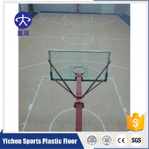 陕西木纹篮球场PVC塑胶地板