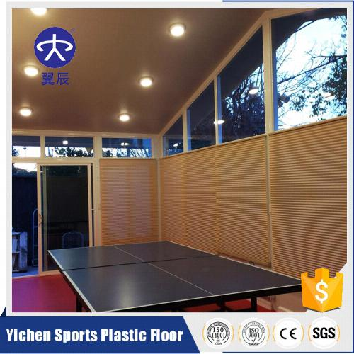 美国室内乒乓球PVC塑胶地板施工效果